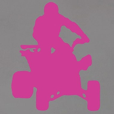 SweetumsWallDecals Four Wheeler Wall Decal; Hot Pink