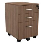Alera Sedina Series Mobile Box/box/file Pedestal, 15 3/8w X 20d X 26 5/8h, Walnut