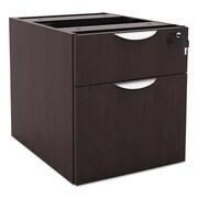 Alera Valencia Series 3/4 Box/file Pedestal, 15 5/8w X 20 1/2d X 19 1/4h, Espresso