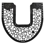 Boardwalk Commode Mat 2.0, Rubber, 22 7/8 X 22, Black/white, 6/carton