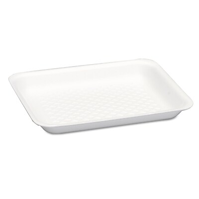 GENPAK Supermarket Yellow Foam Trays, 400/Carton