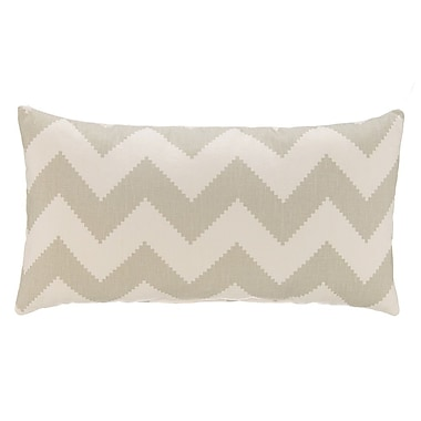 Grouchy Goose Chevron Velvet Lumbar Pillow; Dove Gray