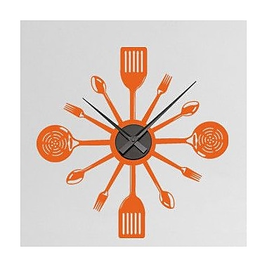 Style and Apply Cooking Time Wall Clock Wall Decal; Beige