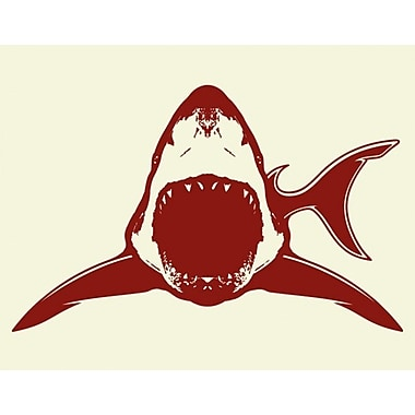 Style and Apply Shark Wall Clock Wall Decal; Orange