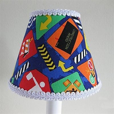 Silly Bear Construction Cutie 11'' Fabric Empire Lamp Shade