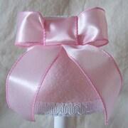 Silly Bear Satin Ribbons 11'' Fabric Empiree Lamp Shade