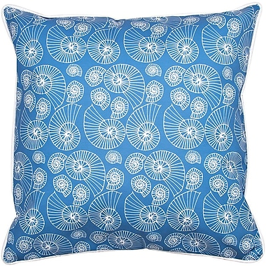Island Girl Home Coastal Nautilus Outline Throw Pillow
