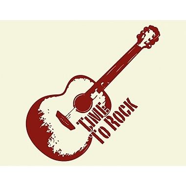 Style and Apply Rock Wall Clock Wall Decal; Dark Red