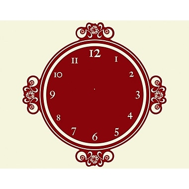 Style and Apply Decor Moments Wall Clock Wall Decal; Brown