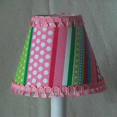 Silly Bear Stripes Gone Crazy 11'' Fabric Empire Lamp Shade
