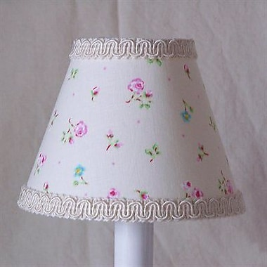 Silly Bear Angelic Floral 11'' Fabric Empire Lamp Shade