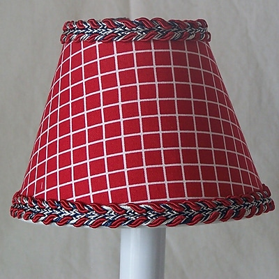 Silly Bear Fireman's Check 11'' Fabric Empire Lamp Shade