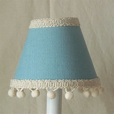 Silly Bear Teddy in Overalls 11'' Fabric Empire Lamp Shade