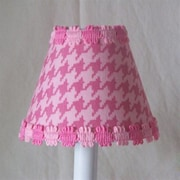 Silly Bear Candy Coated Houndstooth 11'' Fabric Empire Lamp Shade