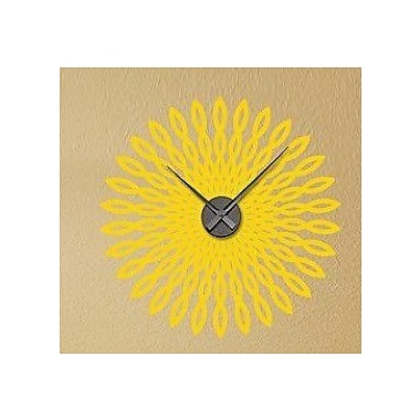 Style and Apply Retro Sun Wall Clock Wall Decal; Yellow