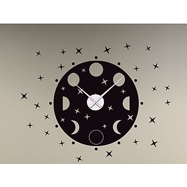 Style and Apply Phrases of the Moon Wall Clock Wall Decal; Orange