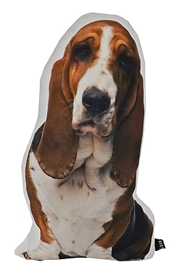 lava Basset Hound Shaped Indoor/Outdoor Lumbar Pillow