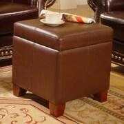 Lanza Storage Leather Ottoman