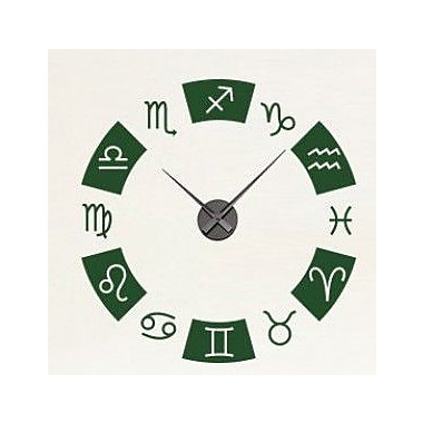 Style and Apply Zodiac Wall Clock Wall Decal; Black