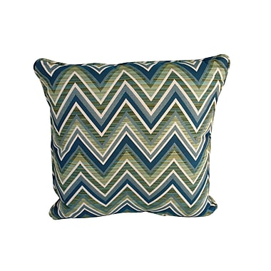 SomersFurniture Poolside Indoor/Outdoor Throw Pillow; Fischer Lagoon