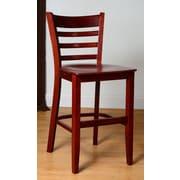 Benkel Seating 24'' Bar Stool; Mahogany