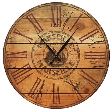 Gizaun Art Marseille 24'' Cedar Wall Clock