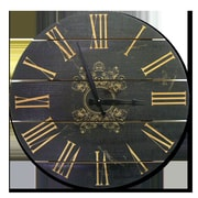 Gizaun Art French Country 24'' Cedar Wall Clock