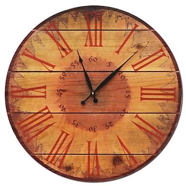 Gizaun Art Warm Sunflower 30'' Cedar Wall Clock