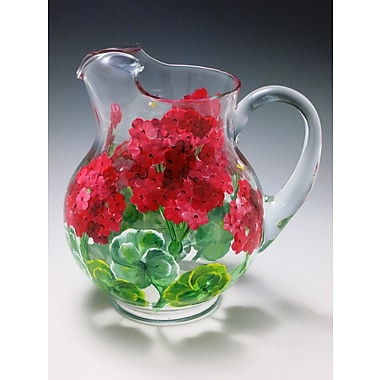 ChristinasHandpainted Katharina Grand Geranium Pitcher