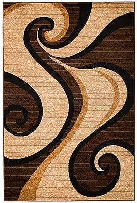Rug and Decor Inc. Summit Brown Area Rug; Runner 2' x 7'