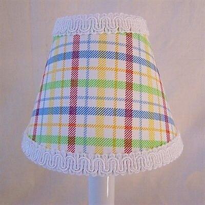 Silly Bear Poppin Plaid 11'' Fabric Empire Lamp Shade