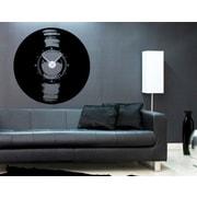 Style and Apply Vinyl Love Wall Clock Wall Decal; Dark Gray