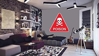 Wallhogs Poison Sign Wall Decal; 36'' H x 36'' W