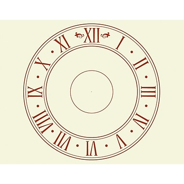 Style and Apply Roman Time Wall Clock Wall Decal; Violet