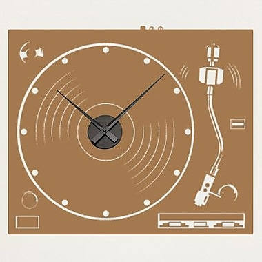 Style and Apply Turnable Wall Clock Wall Decal; White