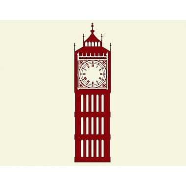 Style and Apply Big Ben Wall Clock Wall Decal; Brown