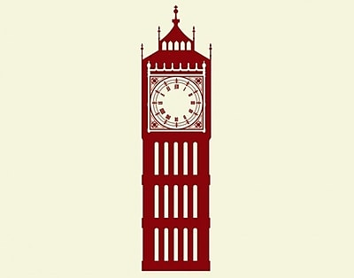 Style and Apply Big Ben Wall Clock Wall Decal; Gold