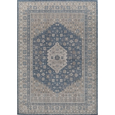 Rugs America Estelle Machine Woven Seafoam/Cream Area Rug; 7'10'' x 9'10''