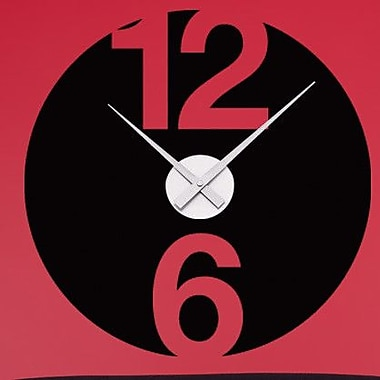 Style and Apply 12 And 6 Wall Clock Wall Decal; Royal Blue