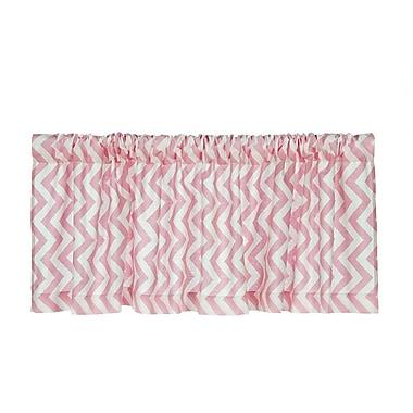 Sweet Potato by Glenna Jean Swizzle 70'' Curtain Valance; Pink
