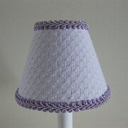 Silly Bear Slightly Lightly Lavender 11'' Fabric Empire Lamp Shade