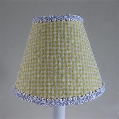 Silly Bear So Seersucker 11'' Fabric Empire Lamp Shade; Yellow