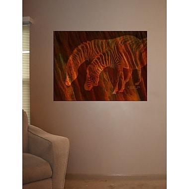 Wallhogs Cavalaris Moods of Africa Zebras Poster Wall Mural; 18'' H x 24'' W