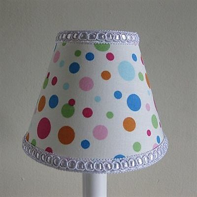 Silly Bear Bubblicious Dots 11'' Fabric Empire Lamp Shade
