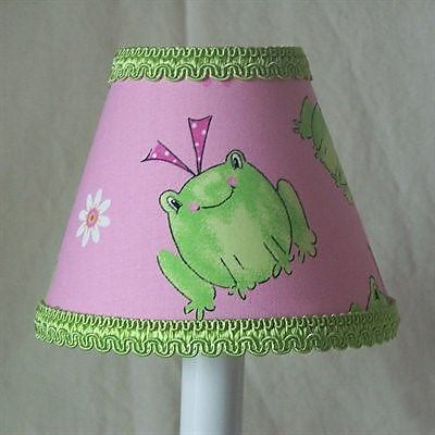 Silly Bear Leapin Frogs 11'' Fabric Empire Lamp Shade