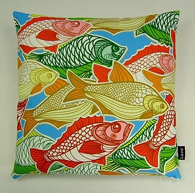 lava Swimming Fish Indoor/Outdoor Throw Pillow