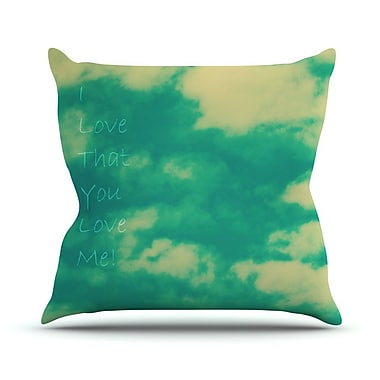 KESS InHouse I Love That You Love Me Outdoor Throw Pillow