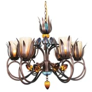 Van Teal Dance Of Fire DAna 6-Light Shaded Chandelier