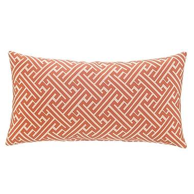 Grouchy Goose Greek Key Lumbar Pillow; Burnt Orange