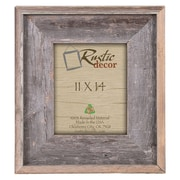 RusticDecor Rustic Reclaimed Barn Wood Wall Picture Frame